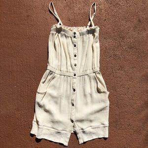 [LA Made] Cream Button Down Dress - Size Small